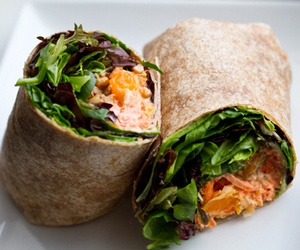 food, healthy, and sandwich wrap image