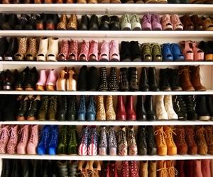 closet, shoes, and world image