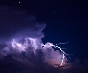 clouds, lightning, and nature image