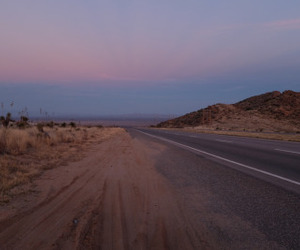 new mexico, sunset, and travel image