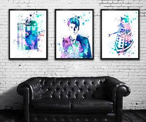 black, blue, and Dalek image
