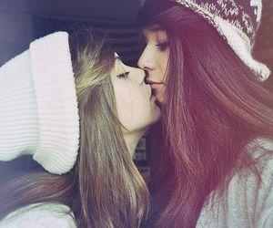 cuties, kiss, and kissing image