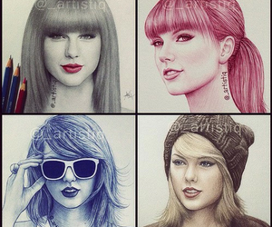 Taylor Swift and drawing image
