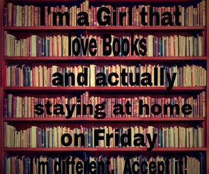 books, girl, and at home image