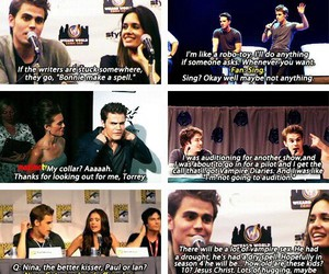 paul wesley, funny, and tvd image