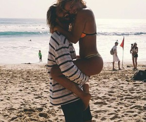 couple, summer, and cute image