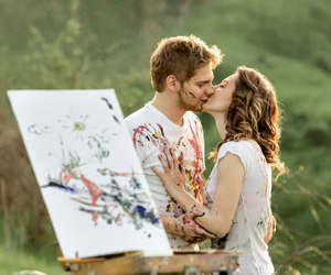 kiss, nature, and love image