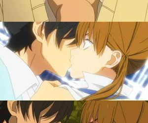 anime, kiss, and couple image
