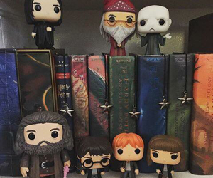 books, collection, and harry potter image