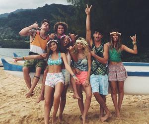 beach, fun, and laugh image