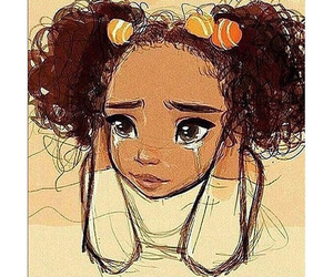 crying, curls, and racism image