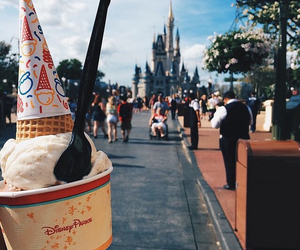 castle, food, and ice cream image