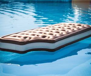 float, ice cream sandwich, and pool image
