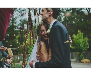 couple, happy, and wedding image