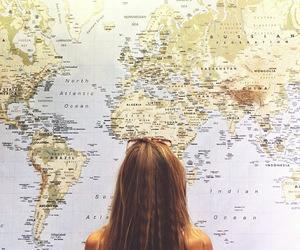 travel, girl, and world image