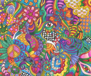 trippy and colors image