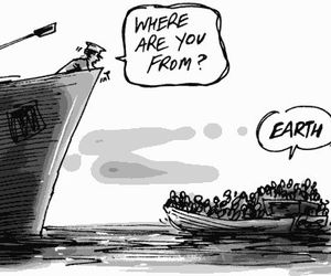 earth and refugees image