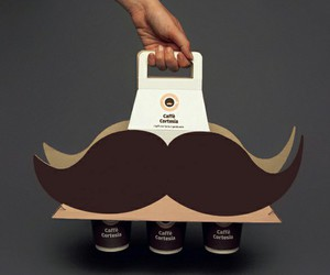 design, mustache, and packaging image