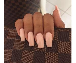 nails, pink, and long image