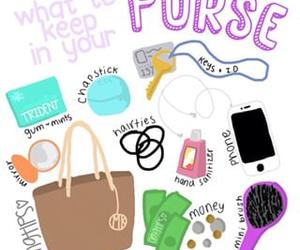 tips, bag, and purse image