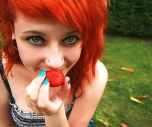 pierced, redhair, and strawberry image
