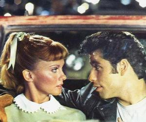 grease, movie, and couple image