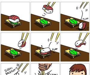 sushi, funny, and food image