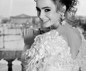 lily collins, beautiful, and smile image