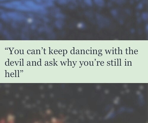 quote, Devil, and dancing image