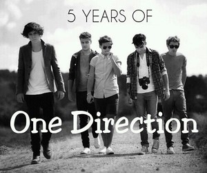 one direction and 5 years image