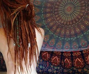 dreadlocks, girl, and hippie image
