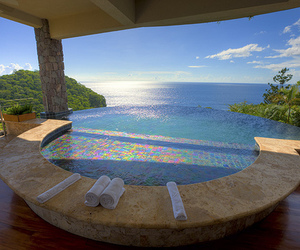 luxury, pool, and sea image