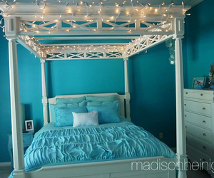bed, dream room, and lights image