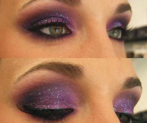 makeup, purple, and make up image