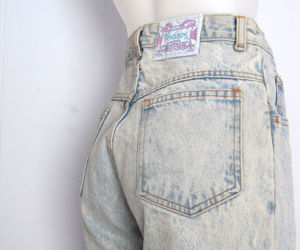 jeans, 90s fashion, and high waisted jeans image