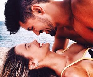 couple, fashion, and kiss image