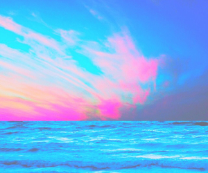 blue, ocean, and pink image