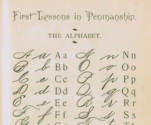 alphabet and calligraphy image