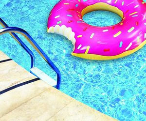 donut, pool, and summer image