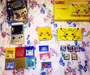 collection, gameboy, and gamer girl image