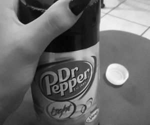 black nails, dr.pepper, and snapchat image