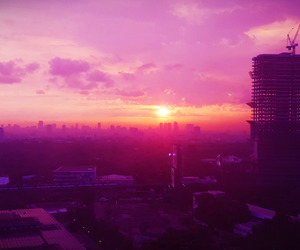 city, Philippines, and pink image