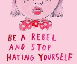 pink, feminism, and rebel image
