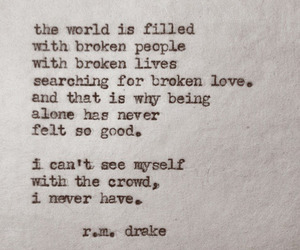 broken, crowd, and typewriter image