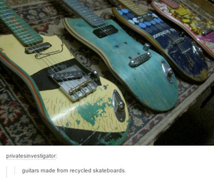 skateboard and guitar image