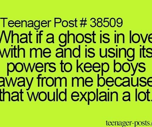 love, ghost, and boy image