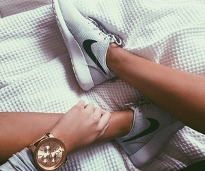 nike, shoes, and watch image