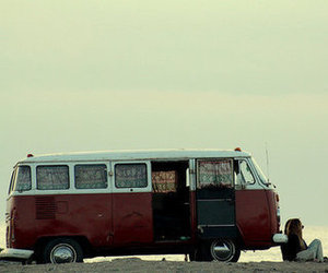 escape, beach, and van image
