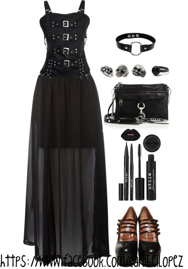 black, gothic, and outfit image