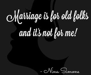 marriage, nina simone, and love image